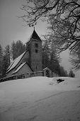 Typical Alpine Church, Switzerland