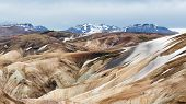 Steam Vents, Rhyolite Mountains, Landmannalaugar Trail, Laugavegurinn, Iceland