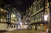 stock photo of alsatian  - Alsatian style houses in Petite France area of Strasbourg
