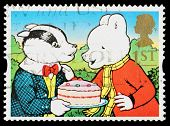 Britain Rupert Bear Postage Stamp
