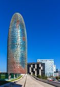 Torre Agbar, A Skyscraper In Barcelona, Spain