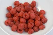 Raspberries In Bowl