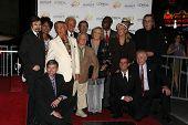 Roger Williams, Mickey Rooney, Jan Rooney, Diane Ladd, Jim Ladd and Bob Barker at thr Hollywood Walk