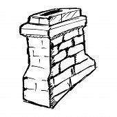 foto of chimney rock  - hand drawn vector sketch illustration of chimney - JPG