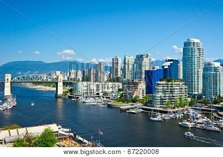 Beautiful View Of Vancouver, British Columbia, Canada poster