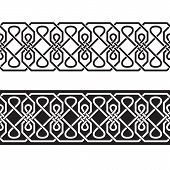 Seamless Geometric Tiling Borders