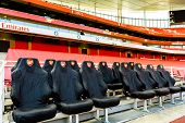 players only seating at Arsenal Football Club