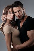 foto of studio  - Passion woman and man in the studio - JPG