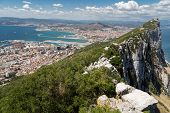 foto of gibraltar  - A view to Spain from the visitor