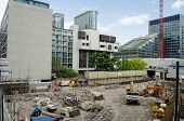 Building site, Barbican, City of London