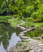 Stone Path Across Water- Ishibashi