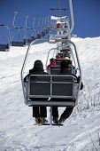 Chairlift at a ski slope