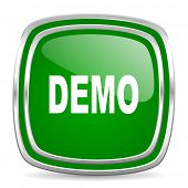demo glossy computer icon on white background