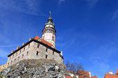 Cesky Krumlov Castle On A Hill