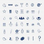 picture of hashtag  - Hand draw social media sign and symbol doodles elements - JPG