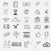 stock photo of hashtag  - Hand draw social media sign and symbol doodles elements - JPG