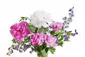 Peony And Baptisia Bouquet