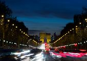 Arc De Triomphe And Traffic