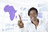 African Business Woman Working In Virtual Environment