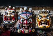 Bhairab Masks At Nepal Market