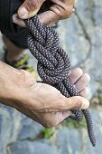 figure eight knot re-threaded