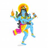 picture of shiva  - easy to edit vector illustration of Lord Shiva - JPG