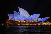 Sydney Opera House With Architectural Blueprint Design