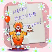 Happy Birthday Clown 01
