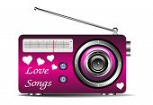 Love songs on the radio