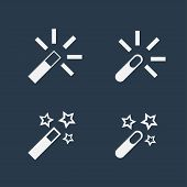 Magic wand flat icons