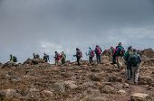 Group Trekking On Kilimanjaro