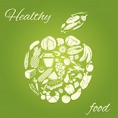 Healthy food apple