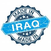 Made In Iraq Vintage Stamp Isolated On White Background