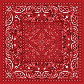 picture of red-necked  - Red Paisley Bandana - JPG