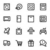 Home appliances web icons set