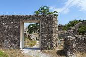 Kos island in Greece. Baptistery gate