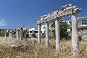 Kos island in Greece. Ancient Agora