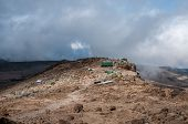 pic of kilimanjaro  - The campsite at Barafu for the final night before summit attempt on Kilimanjaro - JPG