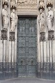 Catholic Saint Figures At Side Entrance