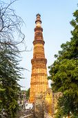 image of qutub minar  - Qutub Minar Tower or Qutb Minar the tallest brick minaret in the world Delhi India.