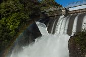 stock photo of hydro  - Water been release out of a New Zealand hydro power dams - JPG