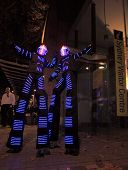 Illuminated Street Performers,  Stilt Walkers For Sydney Vivid Annual Festival