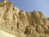 image of hatshepsut  - Theban mountain view from Deir el Bahari mortuary temple of Queen Hatshepsut - JPG