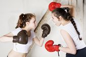 Two Girls As Boxers