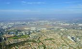 stock photo of united states marine corps  - Aerial view of Mission Hills neighborhood and San Diego International Airport  - JPG