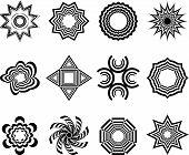 various abstract vector ornaments