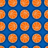 Basketball Sports Seamless Pattern