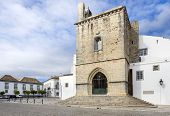 foto of faro  - Old town Se Cathedral square in Faro Algarve Portugal - JPG