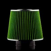 stock photo of modification  - Air cone filter on black background - JPG