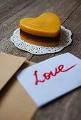 Heart Shaped Mocca Cake